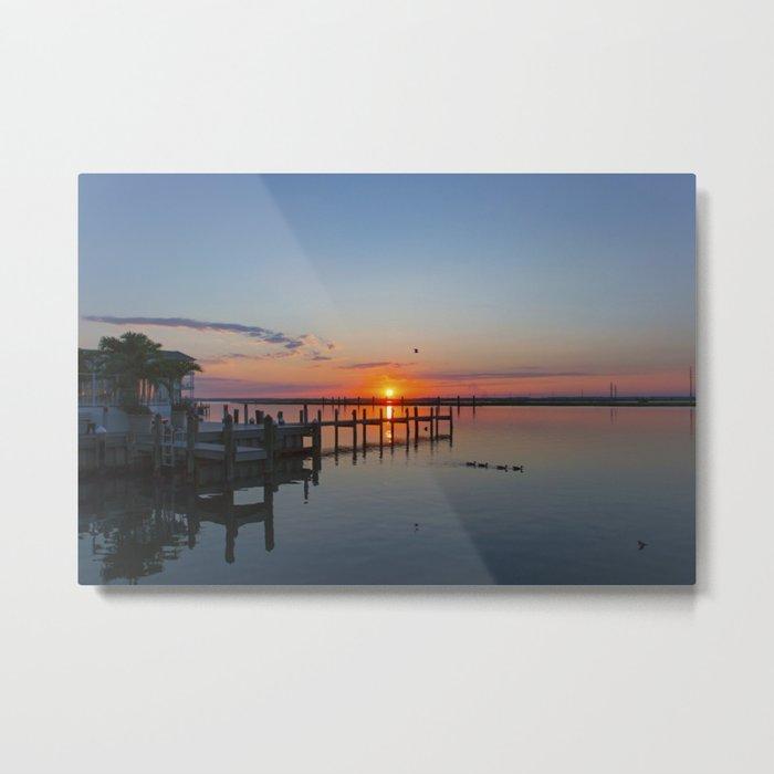 Sunset In Chincoteague Island Metal Print