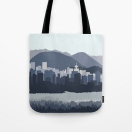 Vancouver Skyline - Blues Tote Bag