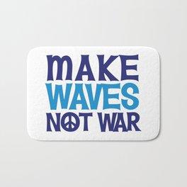 Make Waves Not War, Swim Team Swimmers Bath Mat