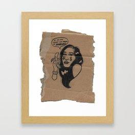 O Vendedor de Bananas Framed Art Print