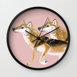 Totem Honshu Wolf Wall Clock