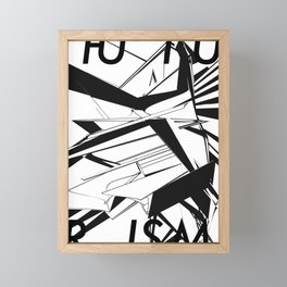History of Art in Black and White. Futurism Framed Mini Art Print
