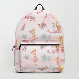 Ballerinas, Unicorns and Cats pattern Backpack