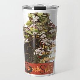 Easter Le Chat Noir de Paques With Floral Cross Travel Mug