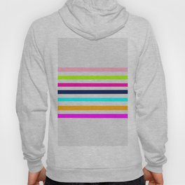 Modern neon colors geometrical whimsical stripes Hoody
