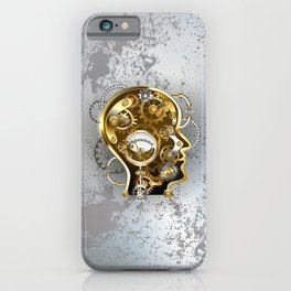 Steampunk Head with Manometer iPhone Case