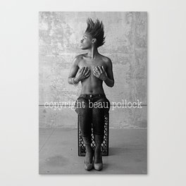 black and white #4 Canvas Print