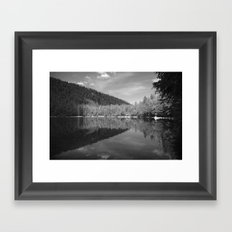 Lake Reflection Framed Art Print