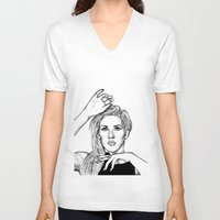 ellie goulding V-neck T-shirts featuring Ellie Goulding by Sharin Yofitasari