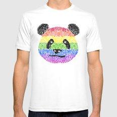 Panda Pride MEDIUM Mens Fitted Tee White