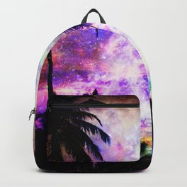 Nebula Palm Trees Backpack