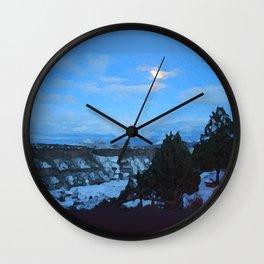 Winter Nightfall at the Gorge Wall Clock