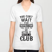 inspiration V-neck T-shirts featuring Inspiration by summer mixtape