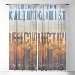 Defective Apocalypse Sheer Curtain