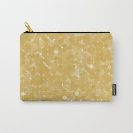 Spicy Mustard Polka Dot Bubbles Carry-All Pouch