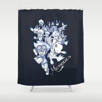 digimon Shower Curtains featuring Digimon Memories by Cursed Rose