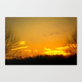 January Sunet - Lehigh Valley (Impressionist Version) Canvas Print