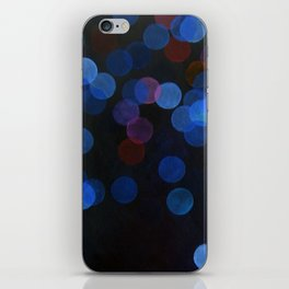 No. 45 - Print of Deep Blue Bokeh Inspired Modern Abstract Painting  iPhone Skin