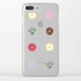 Donut Worry Clear iPhone Case