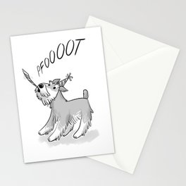 Cute Party Schnauzer, Dog Print! Stationery Cards