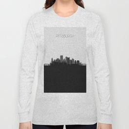 City Skylines: Pittsburgh (Alternative) Long Sleeve T-shirt