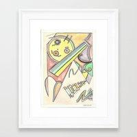 kandinsky Framed Art Prints featuring Kandinsky Re-imagined (2014) by Eli Dorman