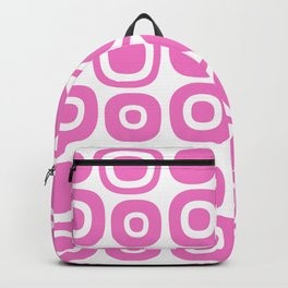 Mid Century Modern Garden Path Pattern 372 Pink Backpack