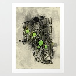 Sketched City Street Art Print