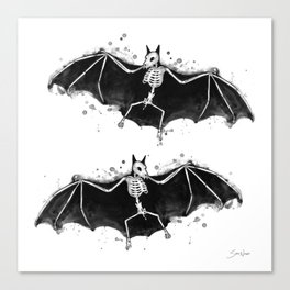 Skeletal Bat Canvas Print
