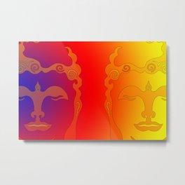 Buddha Head Rainbow I Metal Print