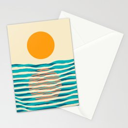 Ocean current Stationery Cards
