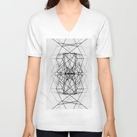 code V-neck T-shirts featuring Code by Dood_L