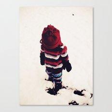 Boy In Snow #2 Canvas Print