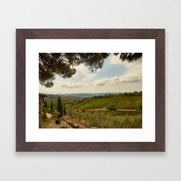 Dreaming of Tuscany Framed Art Print