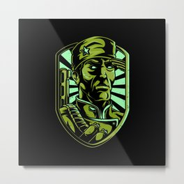 Soldier Lover Gift Idea Design Motif Metal Print