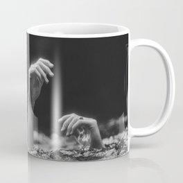 She Needs Help (Black and White) Coffee Mug