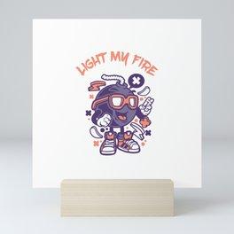 Light my fire Mini Art Print