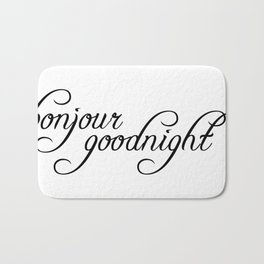 bonjour goodnight Bath Mat