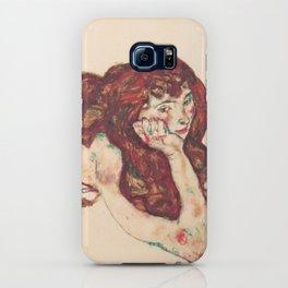 """Egon Schiele """"Auf dem Bauch liegender weiblicher Akt"""" iPhone Case"""