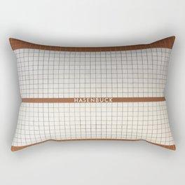 Nuremberg U-Bahn Memories - Hasenbuck Rectangular Pillow