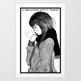 Aiko,manga portrait of goodnight pun pun, oyasumi punpun Art Print