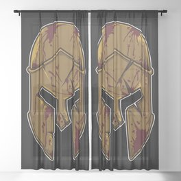 Spartan Helmet in Bloodstain | Warrior Workout Sheer Curtain