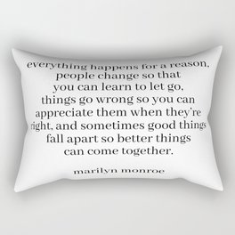 Marilyn quote Rectangular Pillow