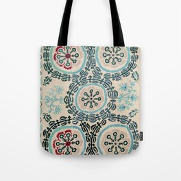 Ferghana Suzani  Northeast Uzbekistan Embroidery Print Tote Bag