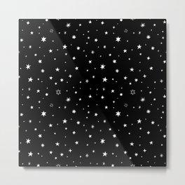 Stars in Night Sky Metal Print