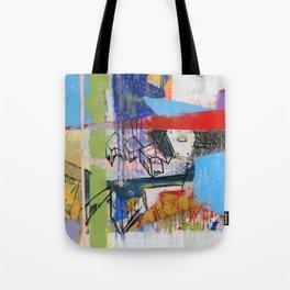 Abstract Mixed Media Compositon V.Threeve Tote Bag