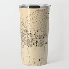 Vintage Map of White Plains NY (1867) Travel Mug