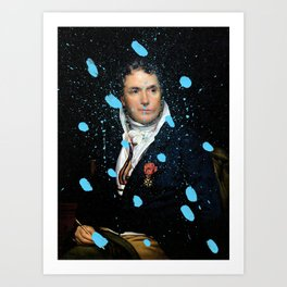 Brutalized Portrait of a Gentleman Art Print