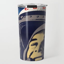 SOVIET PROPAGANDA POSTER 12 APRIL COSMONAUT DAY Travel Mug