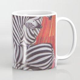 Africa Zebras Vintage Travel Poster Coffee Mug